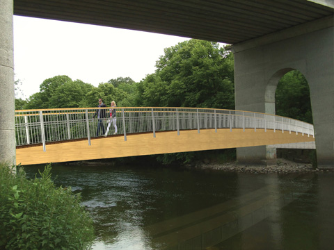 3D Model View of Ossory Pedestrian Bridge at Design Stage